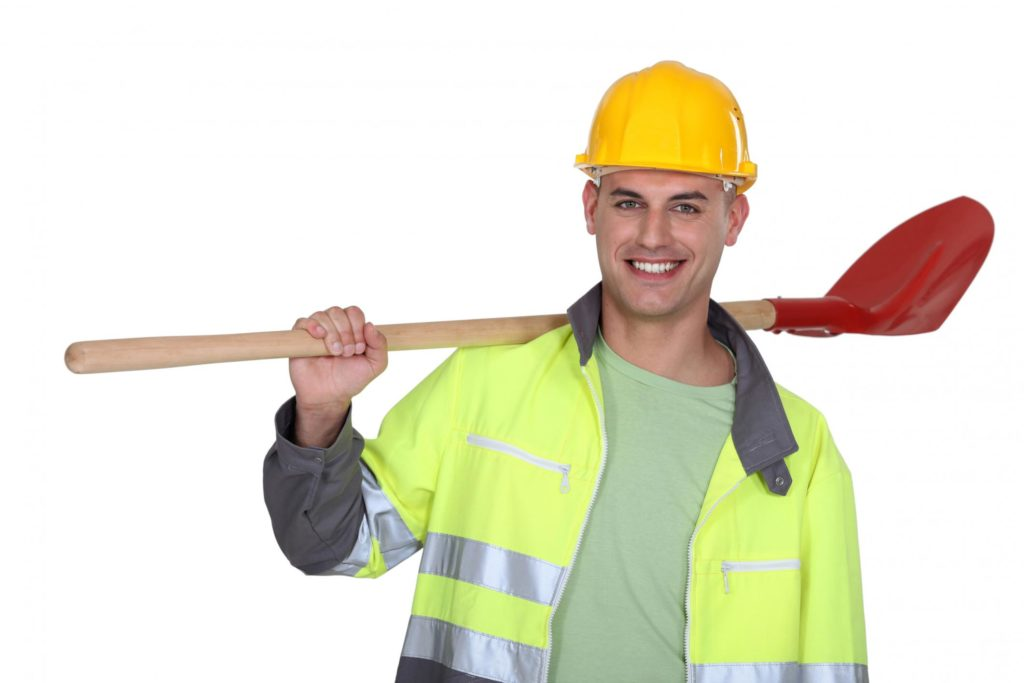 professional septic tank worker during work